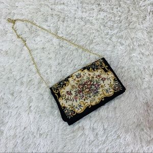 Bohemian Victorian Tapestry Cross Body Bag